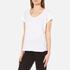 UGG Women's Betty Brushed Jersey Knit Short Sleeve T-Shirt - White: Image 2