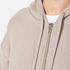 T by Alexander Wang Women's Soft French Terry Long Zip Up Hoody - Beige: Image 5