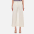 T by Alexander Wang Women's Stretch Cotton High Waisted Culottes - Eggshell: Image 1