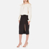 T by Alexander Wang Women's Stretch Poly Twill Slick Pencil Skirt with Slit - Black: Image 4
