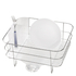 simplehuman Compact Brushed Steel Wire Dish Rack: Image 1