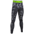 Under Armour Men's HeatGear Armour Printed Compression Tights - Black: Image 1