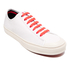 PS by Paul Smith Men's Colston Canvas Court Trainers - White Mono Lux: Image 2