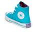 Converse Kids' Chuck Taylor All Star Hi-Top Trainers - Fresh Cyan/Magenta Glow/White: Image 4