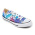 Converse Women's Chuck Taylor All Star Ox Trainers - Fresh Cyan/Magenta Glow/White: Image 2