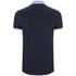 Brave Soul Men's Mozi Jersey Polo Shirt - Dark Navy/Sky Blue: Image 2