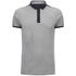 Brave Soul Men's Mozi Jersey Polo Shirt - Light Grey Marl/Navy: Image 1
