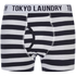 Tokyo Laundry Men's Esterbrooke 2 Pack Striped Boxers - True Navy/Optic White: Image 2