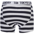 Tokyo Laundry Men's Esterbrooke 2 Pack Striped Boxers - True Navy/Optic White: Image 3