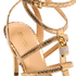 MICHAEL MICHAEL KORS Women's Antoinette Leather Metallic Heeled Sandals - Pale Gold: Image 5