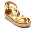 MICHAEL MICHAEL KORS Women's Darby Leather Flatform Sandals - Pale Gold: Image 2