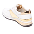 MICHAEL MICHAEL KORS Women's Allie Plate Wrap Leather Trainers - Optic White: Image 4
