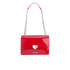 Love Moschino Women's Love Heart Double Chain Strap Shoulder Bag - Red: Image 1