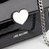 Love Moschino Women's Love Mini Heart Double Chain Strap Shoulder Bag - Black: Image 4