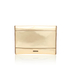 Rebecca Minkoff Women's Mirrored Metallic Leo Clutch Bag - Pale Gold: Image 5