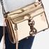 Rebecca Minkoff Women's Mirrored Metallic Mini M.A.C. Cross Body Bag - Pale Gold: Image 3
