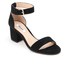 Dune Women's Jaygo Suede Barely There Blocked Heeled Sandals - Black: Image 2