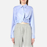 T by Alexander Wang Women's Cotton Twill Twist Front Long Sleeve Shirt - Chambray: Image 1