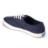 Keds Women's Champion Metallic Canvas Plimsoll Trainers - Peacoat Navy: Image 4