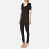 Helmut Lang Women's V-Neck Slash T-Shirt - Black: Image 2
