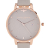 Olivia Burton Women's Mini Moulded Bee Grey Watch - Rose Gold: Image 3