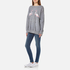 Wildfox Women's Two Flamingos Roadtrip Sweatshirt - Heather Grey: Image 4