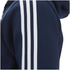 adidas Men's Essential 3 Stripe Fleece Hoody - Navy: Image 3