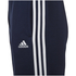 adidas Men's Essential 3 Stripe Fleece Sweatpants - Navy: Image 3