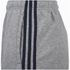 adidas Men's Essential 3 Stripe Fleece Jog Shorts - Grey: Image 3