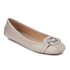 MICHAEL MICHAEL KORS Women's Fulton Leather Ballet Flats - Pearl Grey: Image 2