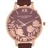 Olivia Burton Women's Lace Detail Watch - Brown/Rose Gold: Image 3