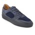 Android Homme Men's Omega Quilted Velvet Low Top Trainers - Navy: Image 2