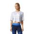 adidas Women's Aeroknit Boxy Crop Top - White: Image 3