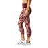 adidas Women's 3/4 Tights - Print/Maroon: Image 4