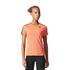 adidas Women's D2M 3 Stripe T-Shirt - Easy Coral: Image 3