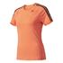 adidas Women's D2M 3 Stripe T-Shirt - Easy Coral: Image 1
