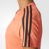 adidas Women's D2M 3 Stripe T-Shirt - Easy Coral: Image 6