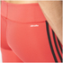 adidas Women's D2M 3 Stripe 3/4 Tights - Core Pink: Image 4