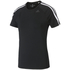 adidas Women's D2M 3 Stripe T-Shirt - Black: Image 1
