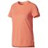 adidas Women's Core Climachill T-Shirt - Glora/Core Red: Image 1