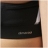 adidas Women's Strappy 3 Stripe Low Support Sports Bra - Black/White: Image 6