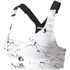 adidas Women's Climachill Marble High Support Sports Bra - White: Image 1