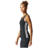 adidas Women's D2M 3 Stripe Tank Top - Black: Image 4