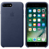 Apple iPhone 7 Plus Leather Case - Midnight Blue: Image 1