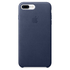 Apple iPhone 7 Plus Leather Case - Midnight Blue: Image 2