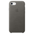 Apple iPhone 7 Leather Case - Storm Gray: Image 2