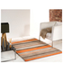 Flair Infinite Inspire Rug - Broad Stripe Orange: Image 1