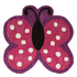 Flair Kiddy Play Rug - Polka Butterfly Multi (90X90): Image 2
