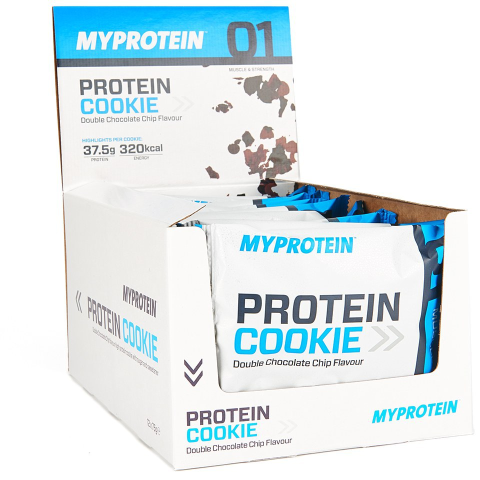 MP Max Protein Cookie, White Chocolate Almond, Box, 12 x 75g