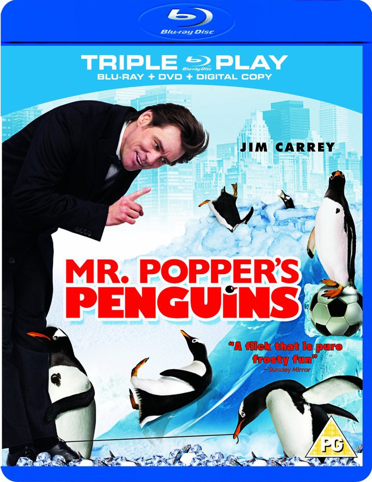 Mr. Poppers Penguins - Triple Play (Blu-Ray, DVD and Digital Copy)